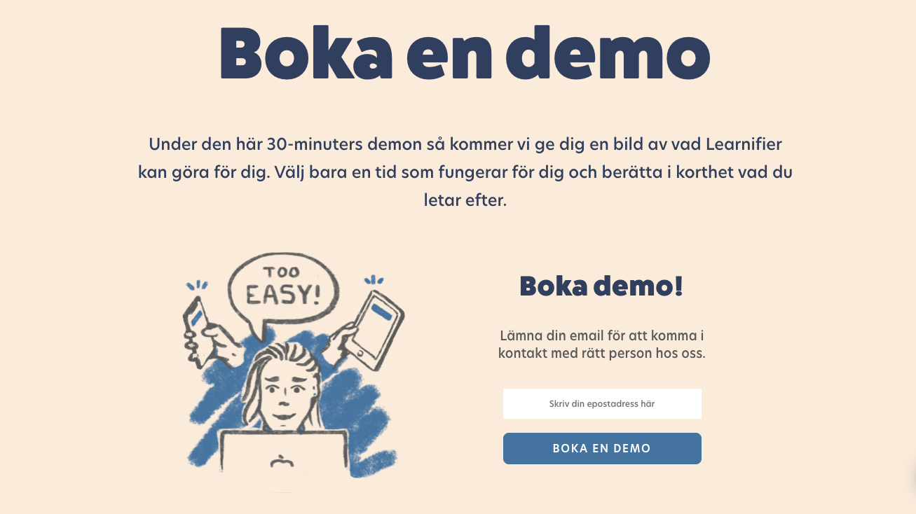 Boka en demo - Learnifier