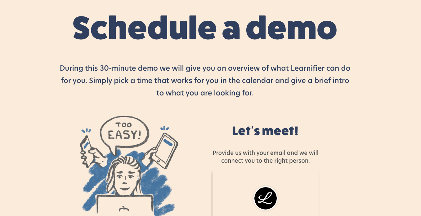 Book a Demo - blog - Learnifier
